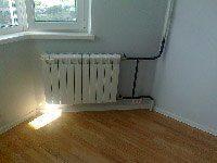 установка радиатора на даче